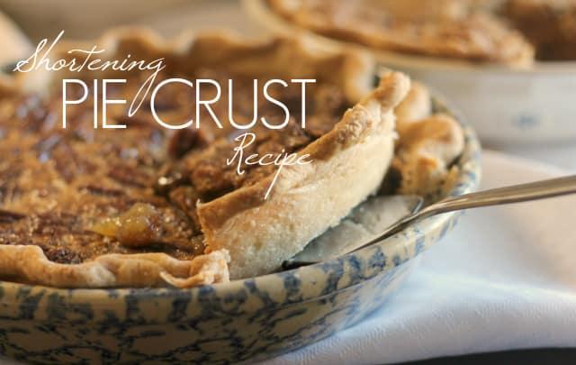 Homemade Shortening Pie Crust