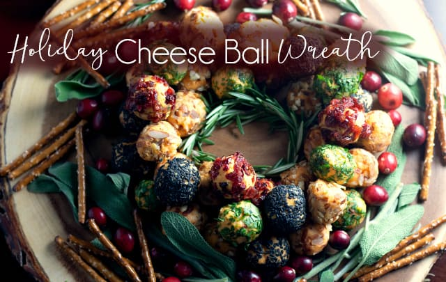 Holiday Cheese Ball Wreath Mom Needs Chocolate
