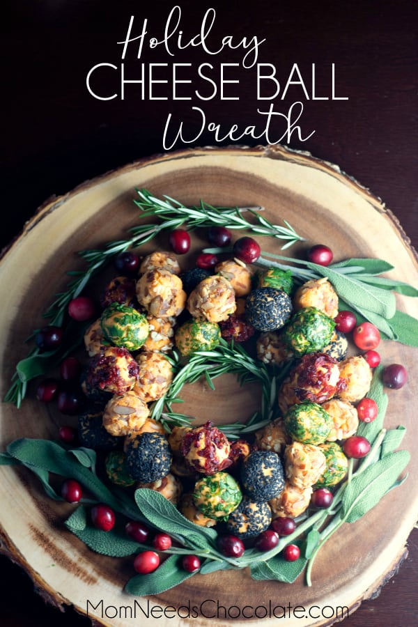 Holiday Cheese Ball Wreath
