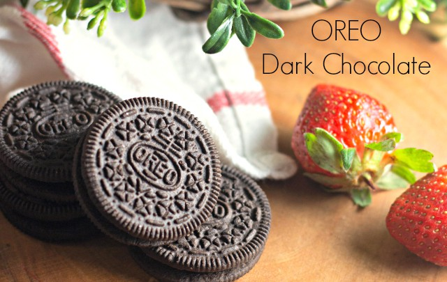 OREO Dark Chocolate with strawberries