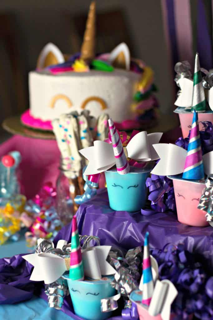Unicorn Pudding Cups Craft