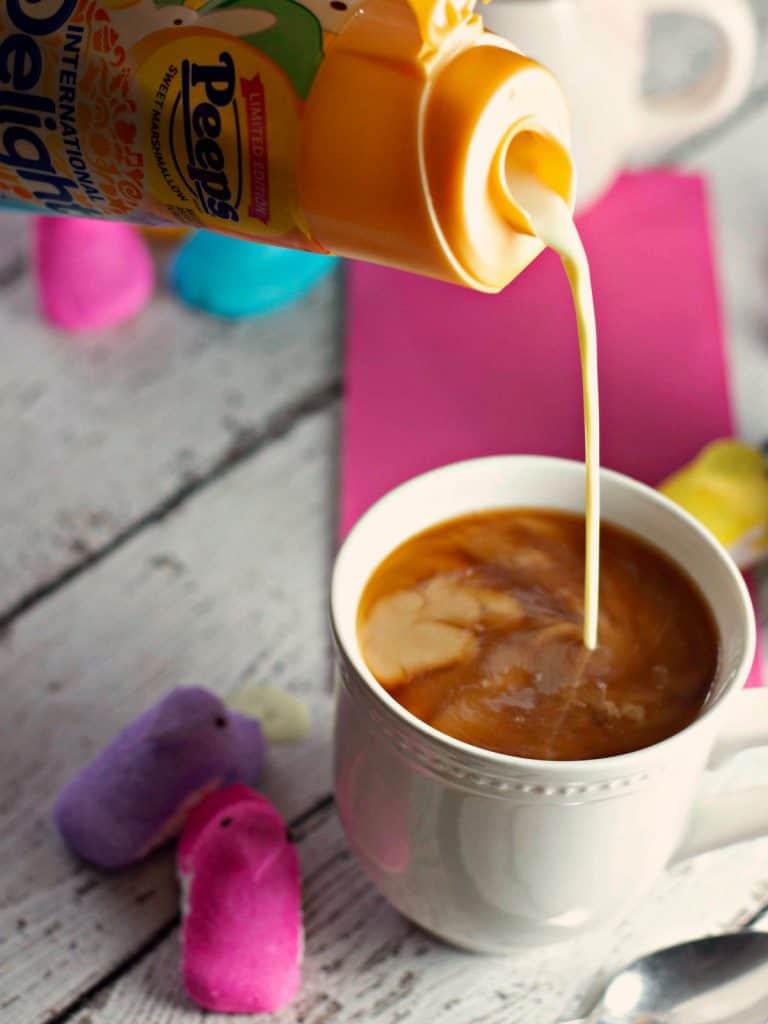 Marshmallow PEEPS® Macaron Cookies | PEEPS coffee creamer