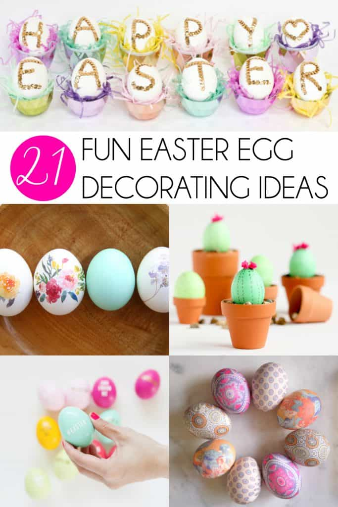 21 Fun Ways to Decorate Easter Eggs | 21 Fun Ways to Decorate Easter Eggs is a collection of the very best tutorials from brilliant bloggers. All the best Easter egg decorating ideas in one place! | #Easter #EasterEggs #EasterCrafts #eggs #MomNeedsChocolate