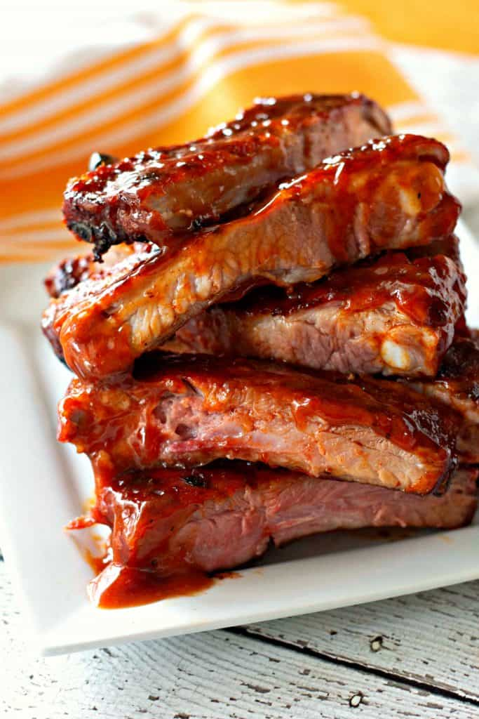 Grilled Honey Chipotle BBQ Ribs