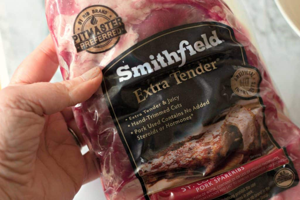Smithfield Extra Tender St Louis Style Ribs for making Grilled Honey Chipotle BBQ Ribs