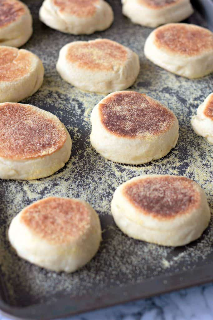 Homemade English Muffins | After you taste these Homemade English Muffins, you'll never want to go back to store-bought! English muffins are fun and very cheap to make at home. Store them in the freezer to have on hand whenever you want an English muffin. #EnglishMuffins #HomemadeBread #Bread #Breakfast