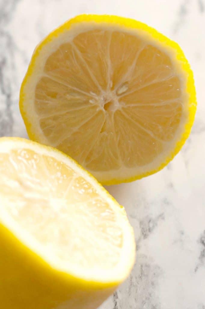 Fresh lemon for flavoring Cream Cheese Pound Cake Recipe