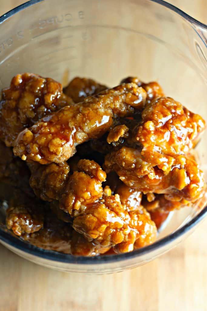 Sticky Sweet Crispy Chicken Strips