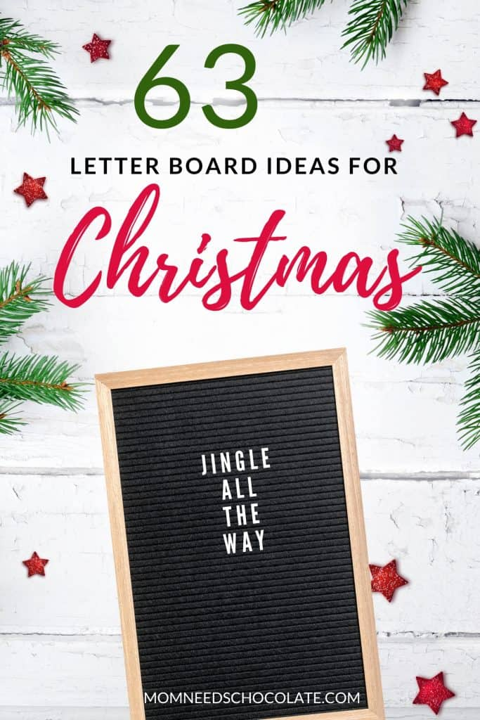 63 Perfect Letter Board Quotes for Christmas