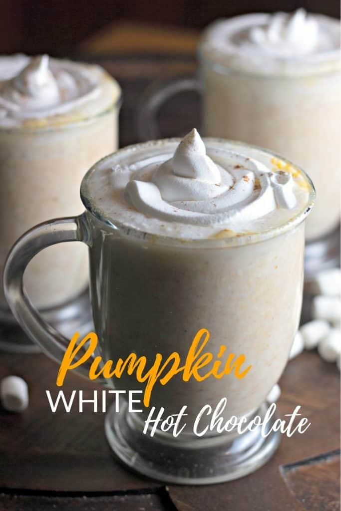 Slow Cooker Pumpkin White Hot Chocolate