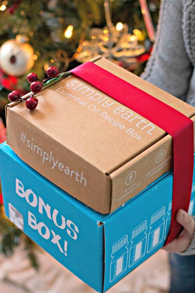 Simply Earth December Essential Oils Recipe Box plus bonus box