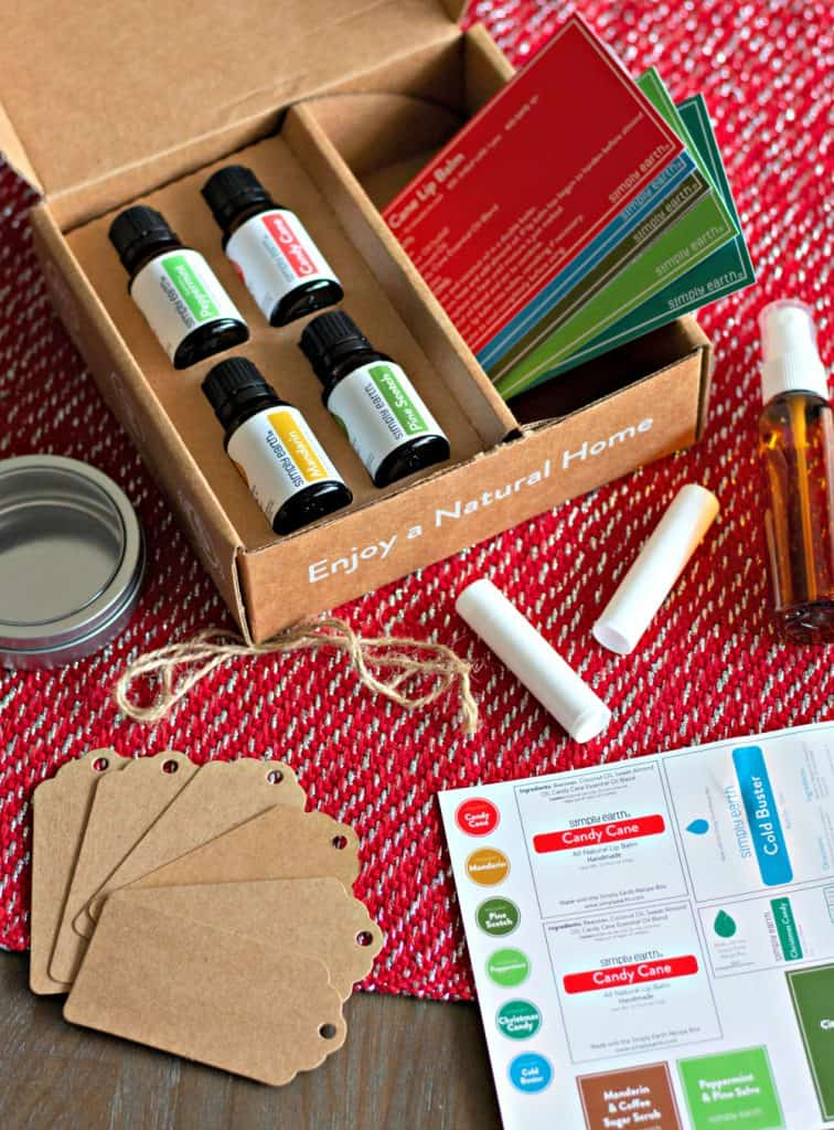 Simply Earth December Essential Oils Recipe Box