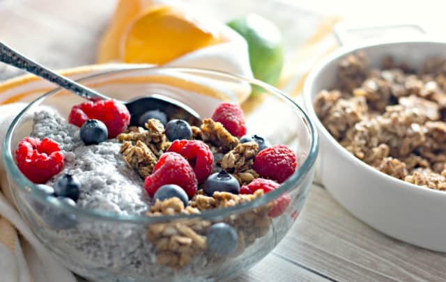 Chia Pudding with Granola and Berries like First Watch