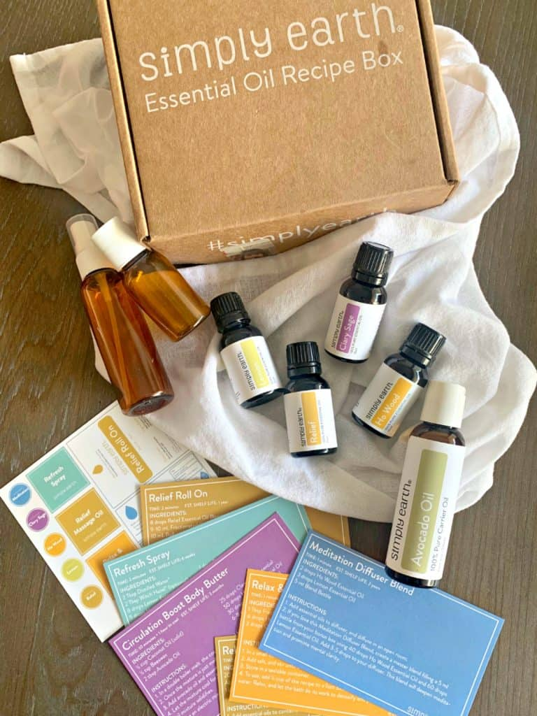 January Essential Oils Recipe Box from Simply Earth