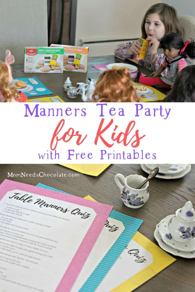 Manners Tea Party with LunchMakers®