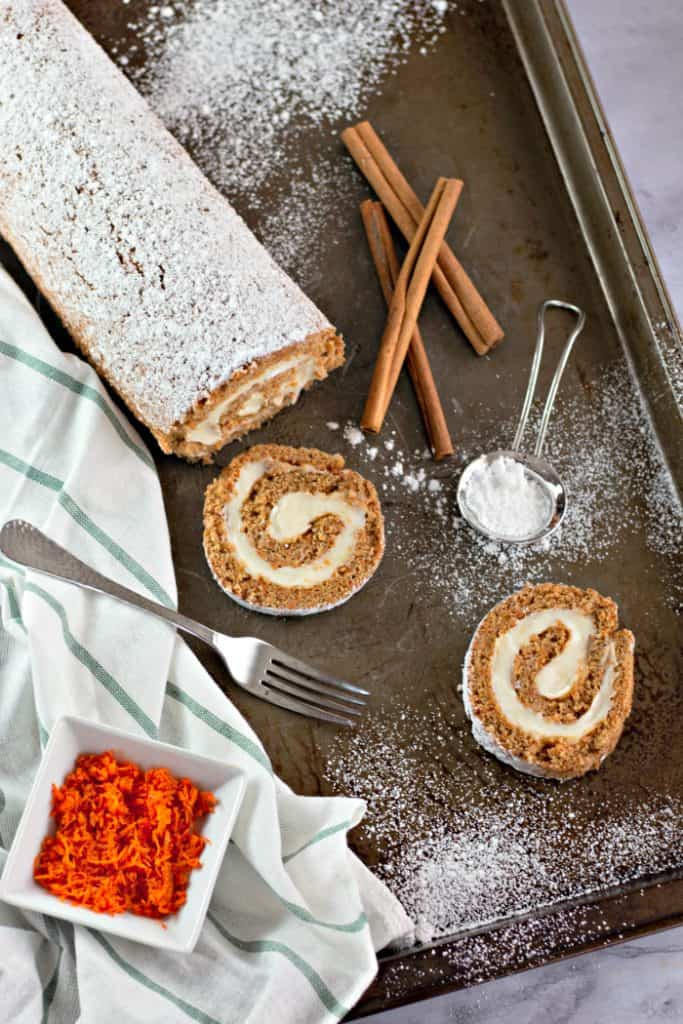 Carrot Cake Roll with Cream Cheese Frosting on Pinterest