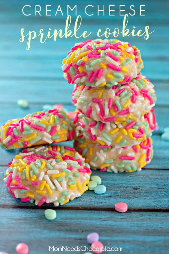 Cream Cheese Sprinkle Cookies for Easter
