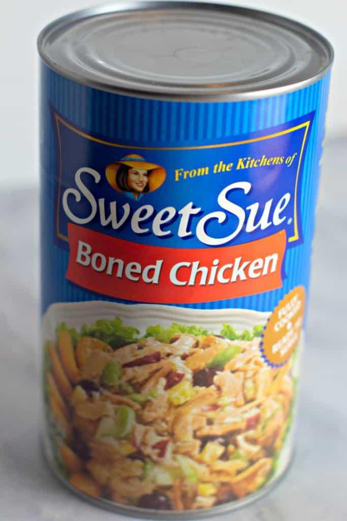 Sweet Sue canned chicken for Crockpot Ohio Shredded Chicken Sandwiches