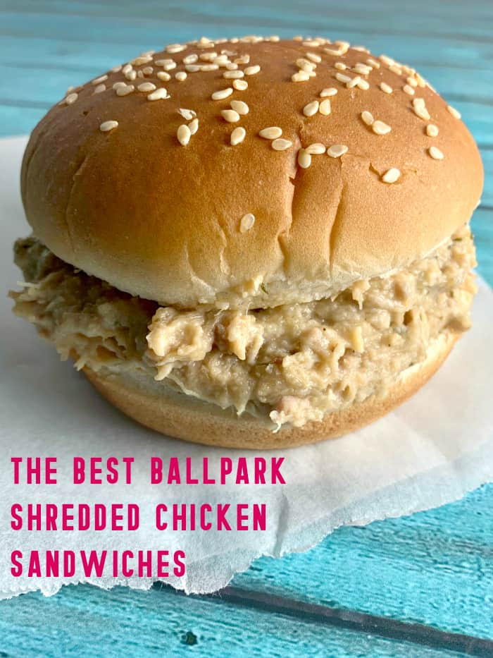 Crockpot Ohio Shredded Chicken Sandwiches