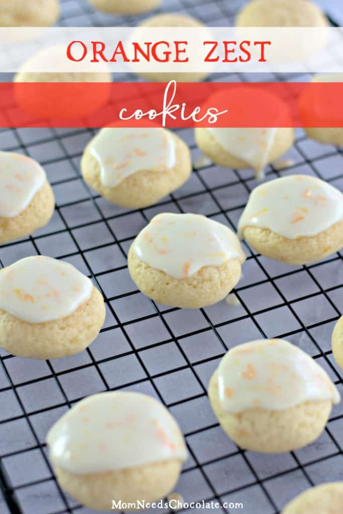 Orange Zest Sprinkle Cookies
