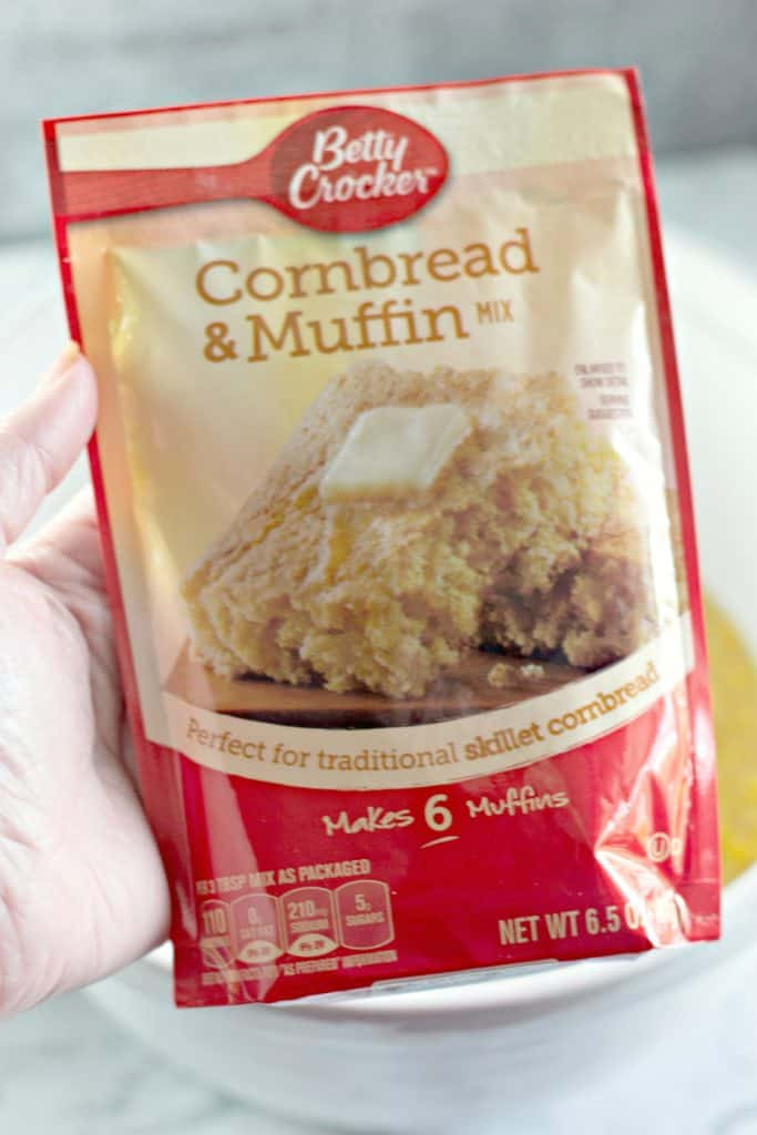 Betty Crocker cornbread and muffin mix to make The Best Slow Cooker Corn Casserole