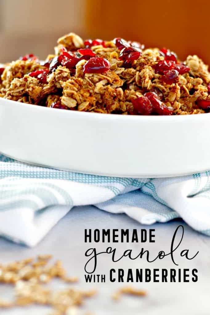 Homemade Granola with Cranberries on Pinterest