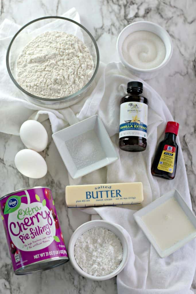 ingredients to make Cherry Pie Bars