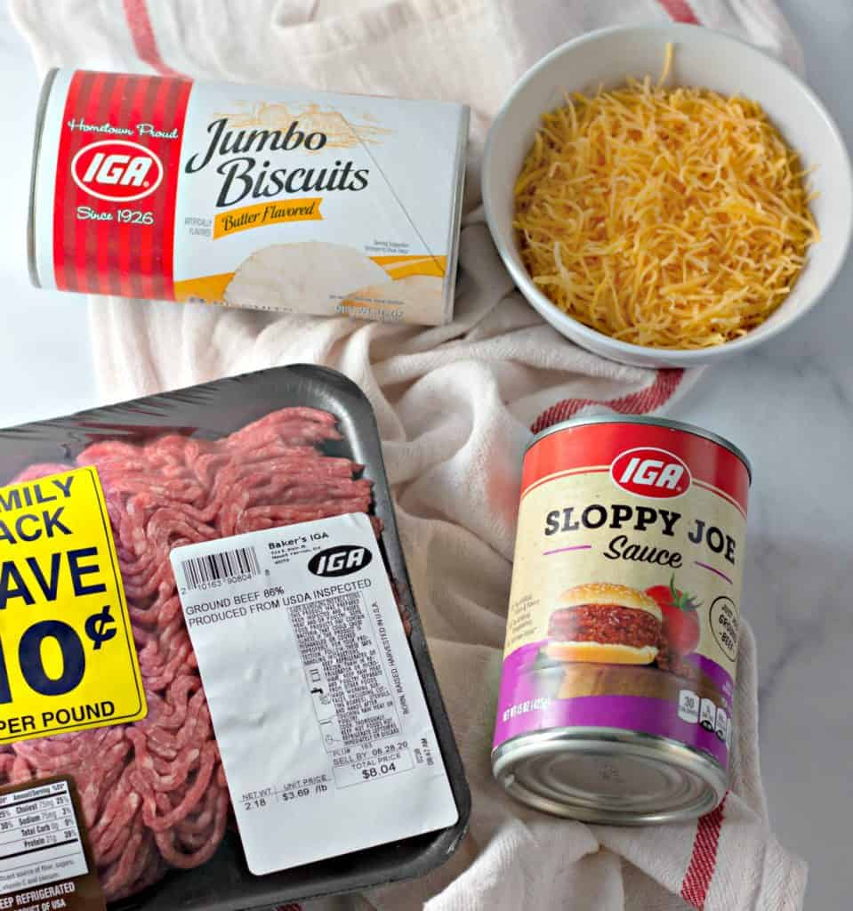 ingredients to make sloppy joe pockets