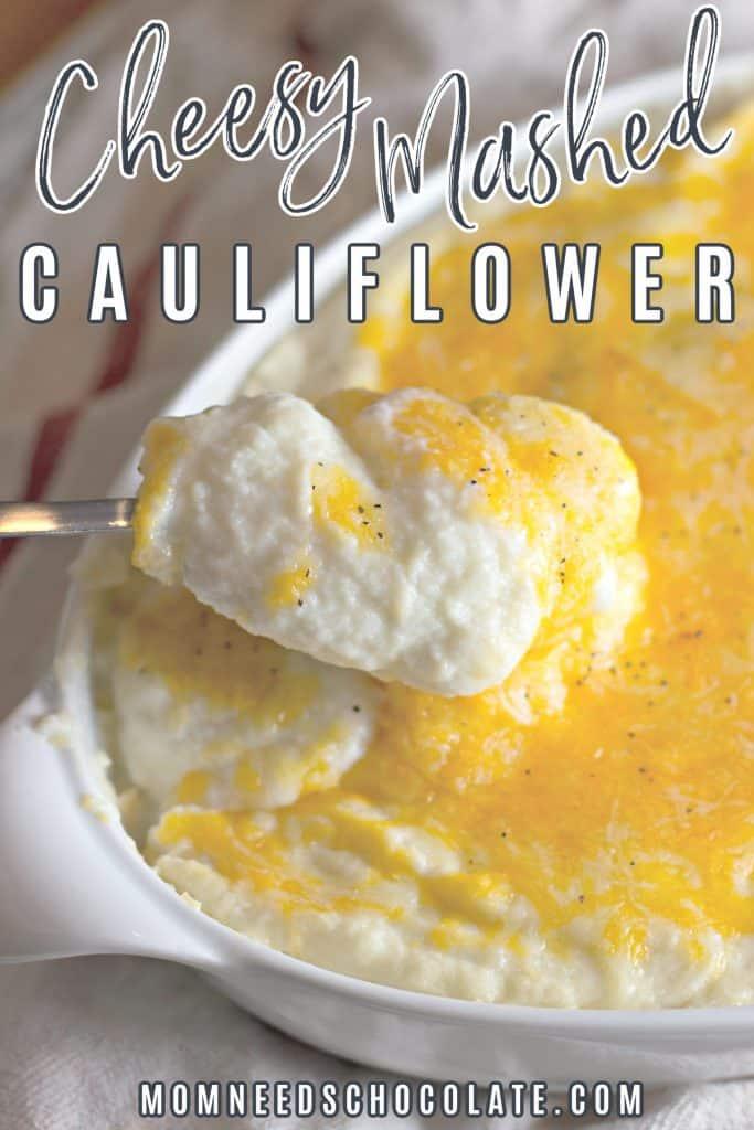 Keto Cheesy Mashed Cauliflower on Pinterest