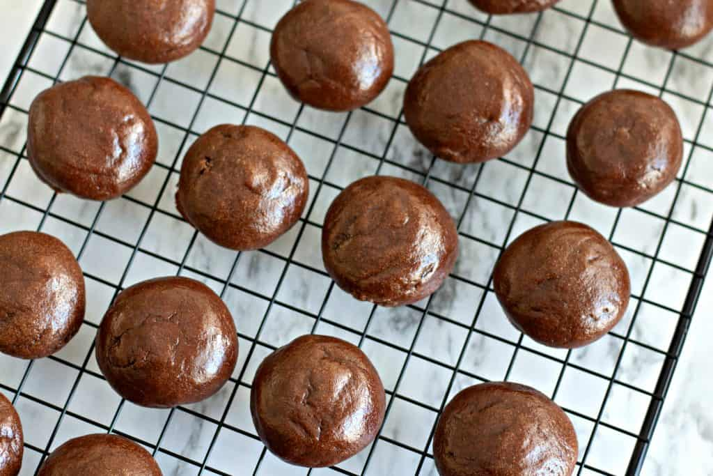 freshly baked Chocolate Fudge Drop Cookies