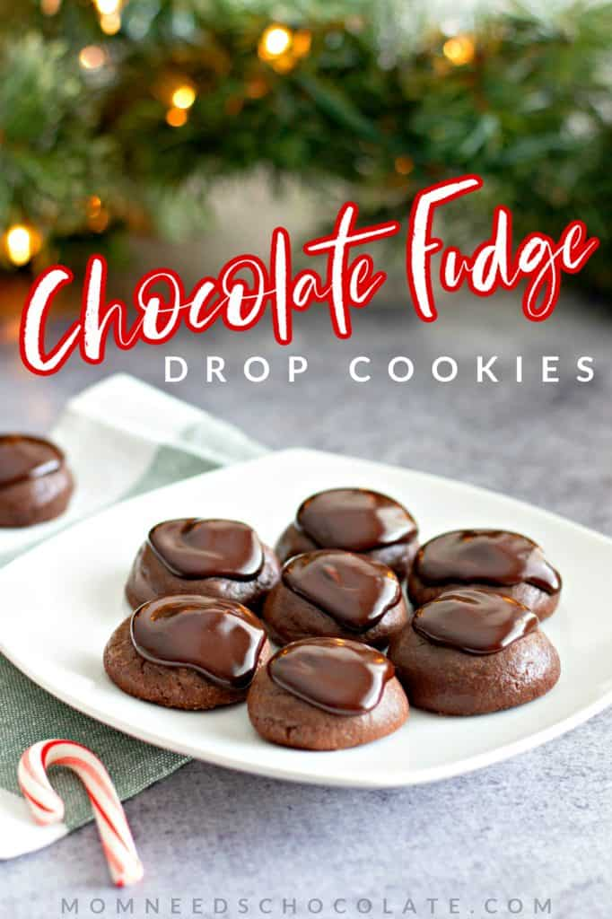 Chocolate Fudge Drop Cookies on Pinterest