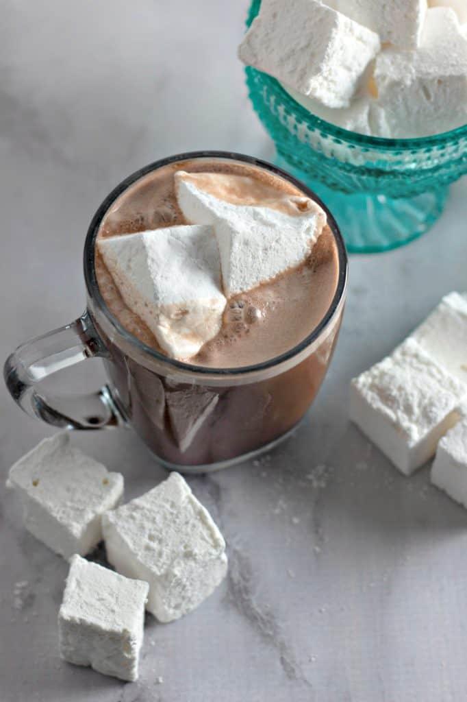 Homemade Marshmallows in hot chocolate