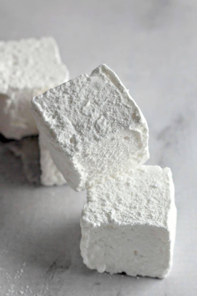 closeup of Homemade Marshmallows