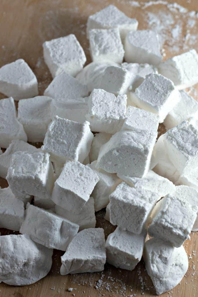 freshly cut Homemade Marshmallows Recipe