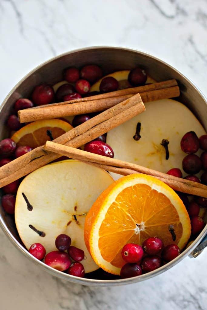 Natural Simmering Potpourri in a saucepan