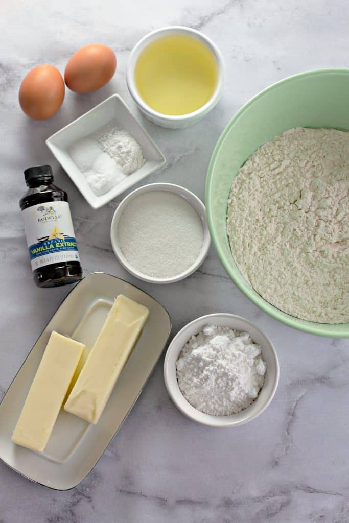 ingredients to make Amish Sugar Cookie Recipe