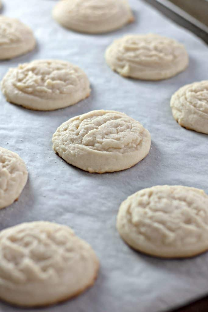 freshly baked Amish Sugar Cookies