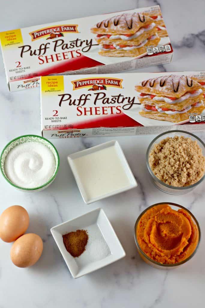 ingredients to make Pumpkin Hand Pies