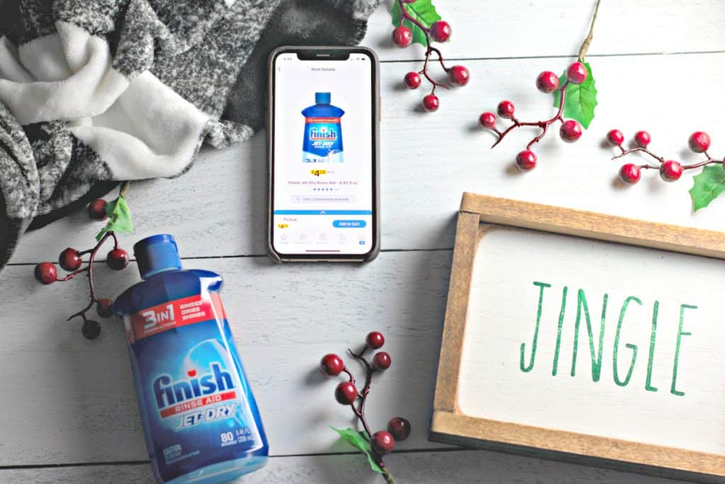 using the Kroger app to buy Finish Jet-Dry
