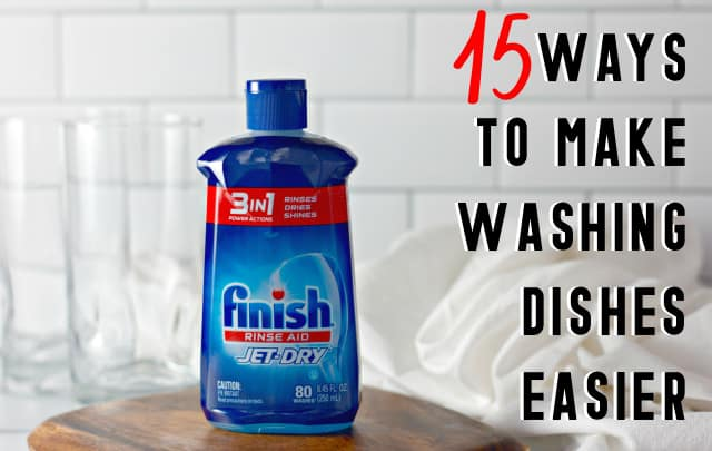 15 Ways to Make Washing Dishes Easier