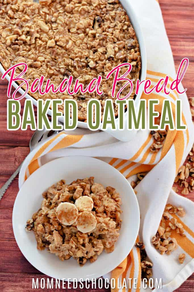 Banana Bread Baked Oatmeal on Pinterest
