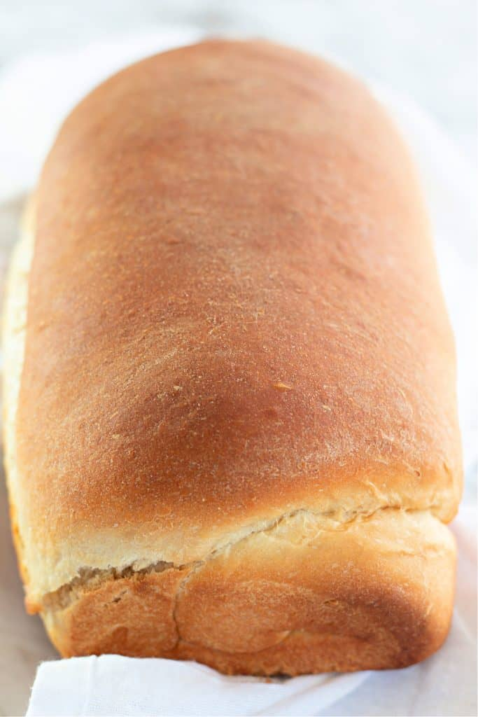 fresh loaf of white bread.