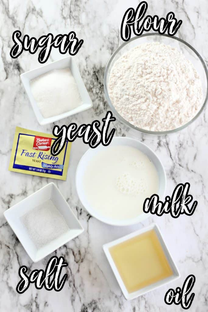 ingredients to make The Best Homemade Bread in a Bag.